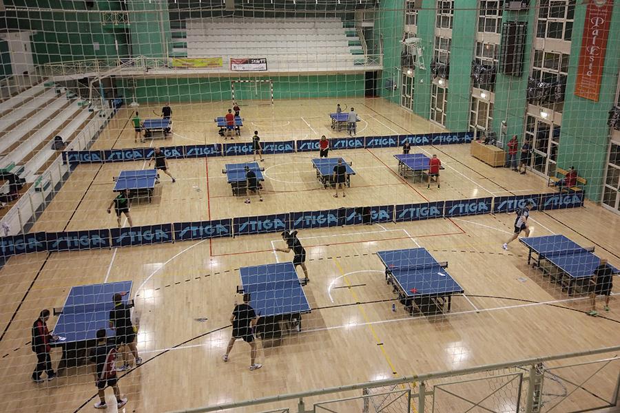 ESTE: Il PalEste allestito per gli allementi di Tennistavolo StarTT